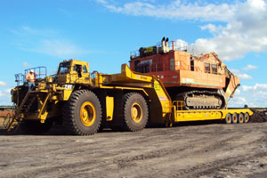 350 tonne mine site trailer