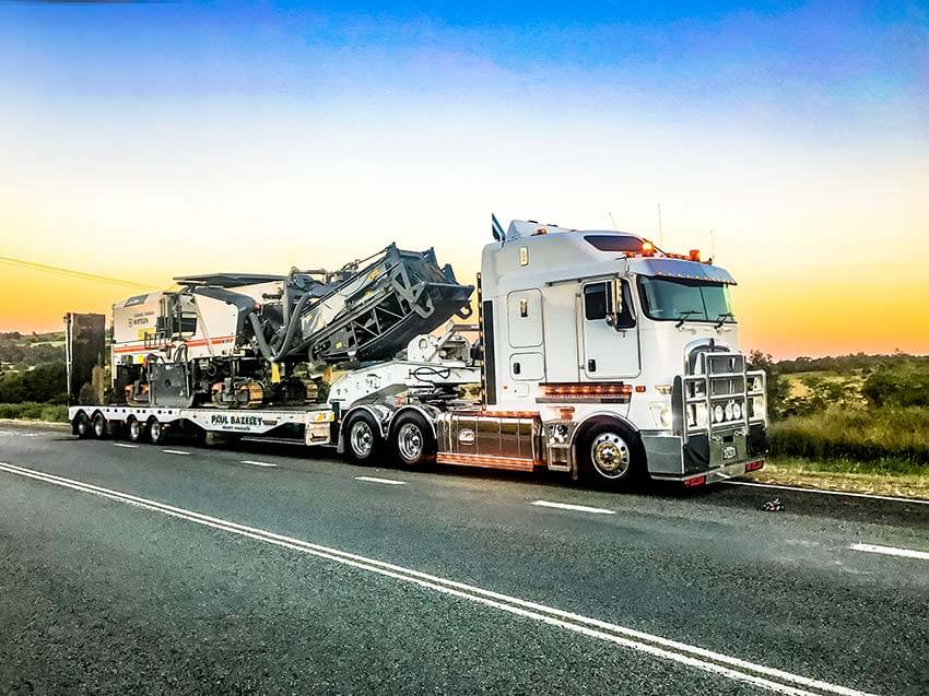Paul Bazeley Heavy Haulage Loaded
