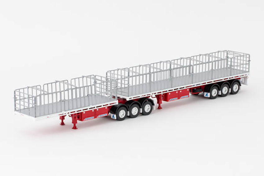MaxiTRANS B Double Flat Top White Red Freighter