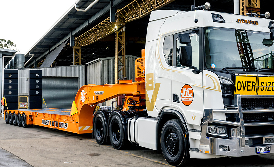 johnson young cranes trailer front