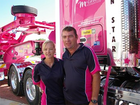 A piece of trailer transport history raises $7000 for charity
