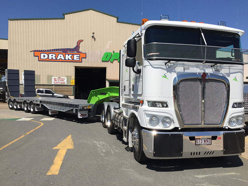 Shadforths Civil Contractors Drake Trailers Deck Widener