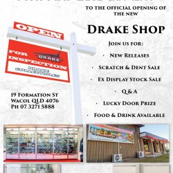You're invited to the new Drake Collectibles open day